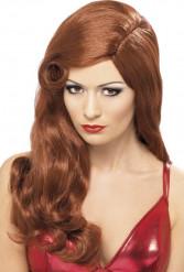 Paryk lang rødhåret Damer