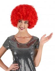 Paryk afro disco rød comfort voksen