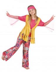 Kostume hippie multifarvet til piger