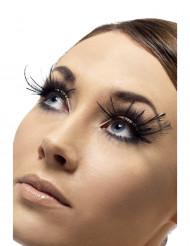 Korte sorte øjenvipper med sorte fjer Voksne