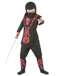 Kostume rød ninja dreng
