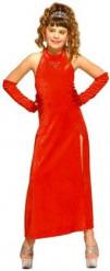 Kostume Cabarat glamour kjole rød til piger