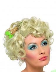 Blond kort krøllet paryk Dame