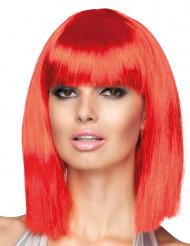 Paryk mellemlang page rød kvinde