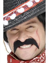 Sort overskæg mexicansk bandit voksen