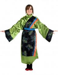 Kostume japansk pige i grøn