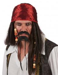 Overskæg og skæg pirat voksen