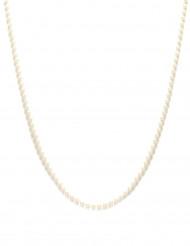 Halskæde hvide perler