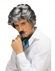 Paryk og overskæg Casanova grå mand