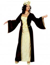 Middelalderprinsessekostume kvinde