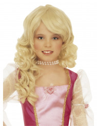 Blond paryk prinsesse barn