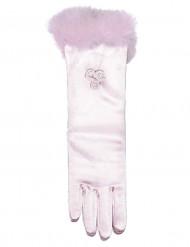 Prinsessehandsker mellemlange lyserød barn