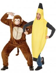 Abe og banan parkostume til voksne