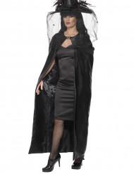Heksekappe sort voksen Halloween