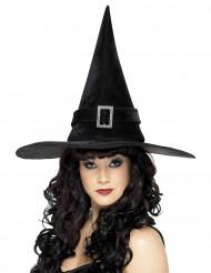 Sort klassisk heksehat til kvinder
