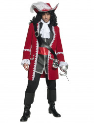 Rød piratkaptajn udklædning til voksne.