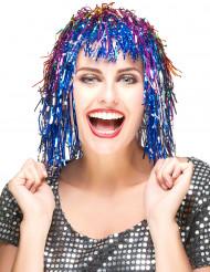 Multifarvet glimmerparyk til voksne