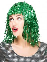 Grøn glimmerparyk til voksne