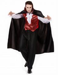 Halloween vampyrkostume rød til mænd