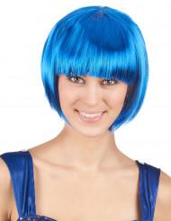 Paryk kort hår blå