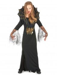Heks med edderkopper - Halloween udklædning til børn
