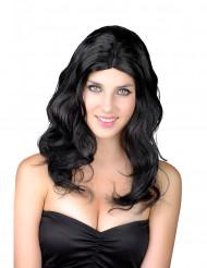 Paryk langt hår sort