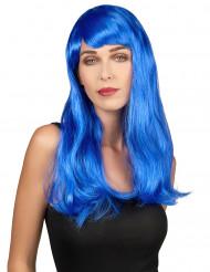 Paryk langt blå hår