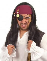 Piratparyk med bandana til voksne