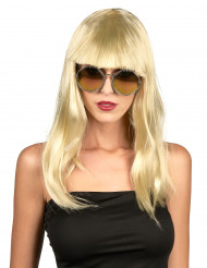 Paryk Blond med pandehår