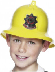 Brandmandshjelm gul Barn