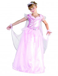 Lyserødt fe-prinsessekostume til piger
