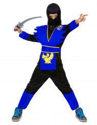 Den blå kriger - Blåt ninjakostume til drenge