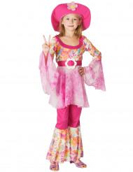 Lyserød hippie - udklædning til børn