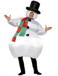 Kostume oppustelig snemand til voksne