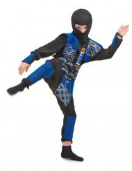 Samurajkostume i blåt til drenge