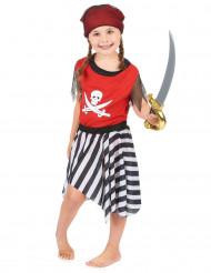 Sort og rødt piratkostume tilpiger