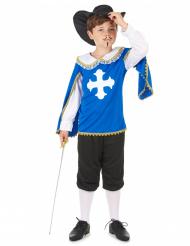 Kostume musketer blå til drenge