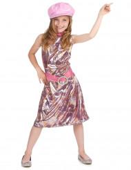 Lyserød disco-udklædning til børn