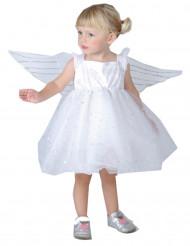 Flyveengel - Hvidt englekostume til piger