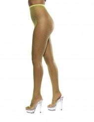 Netstrømpebukser floriserende gul kvinde