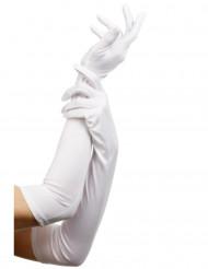 Elegante lange hvide handsker til kvinder