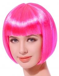 Paruk kort hår fluorescerende lyserød