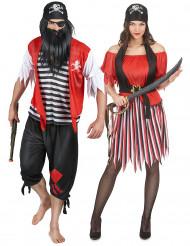 Klassisk pirat parkostume til voksne
