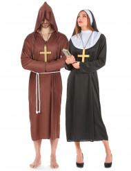 Parkostume munk og nonne
