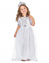 Prinsesse silver - Sølv prinsessekjole til piger
