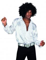 Hvid diskoskjorte voksen