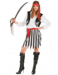 Mrs. Stripe - Piratkostume med striber til kvinder