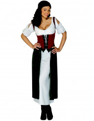 Udklædning middelalder bondekone kvinde