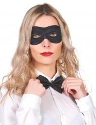 Sort øjenmaske i plastik og stof til voksne