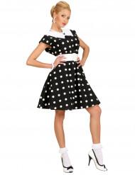 Kostume sort kjole med prikker 50